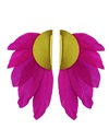 Fuschia Artemis Feather Clip Earrings