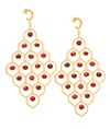 Ruby Jade Potnia Gold-plated Silver Earrings