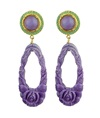 Rosa Purple Resign Drop Earrings