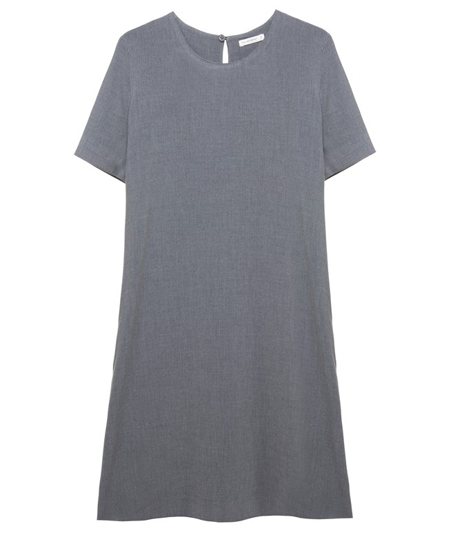 Grey Crepe Back Pleated Dress The Line Project ΦΟΡΕΜΑΤΑ