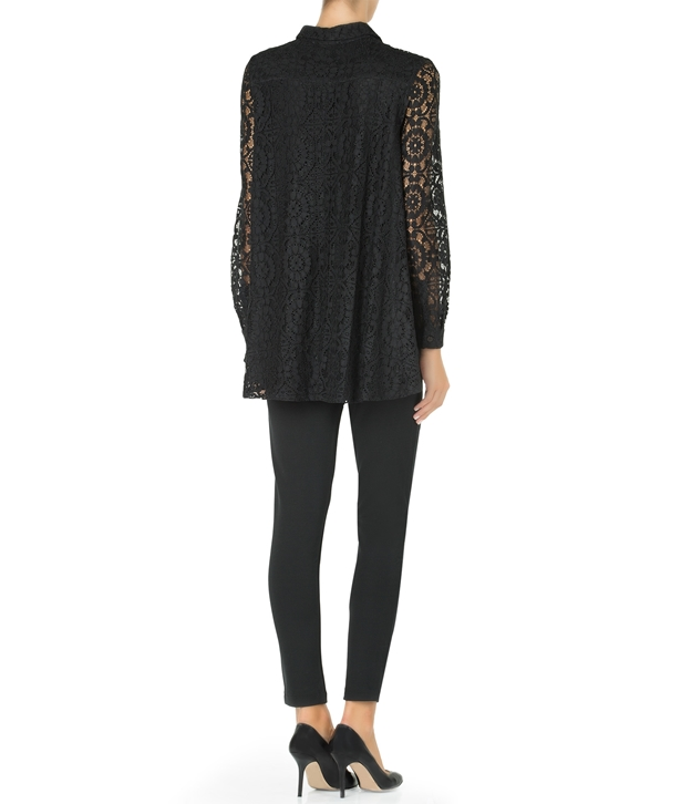 Black Lace Kelly Shirt