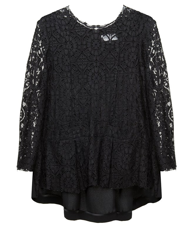 Black Lace Jude Blouse Wildwood ΤΟΠ