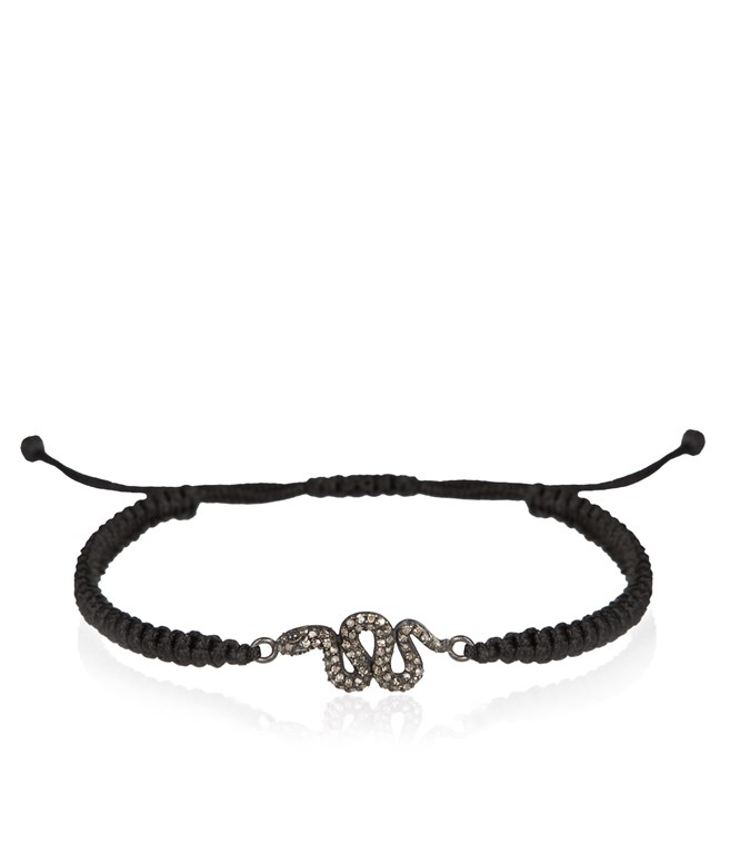 Grey Diamond Snake Bracelet Eye M by Ileana Makri ΒΡΑΧΙΟΛΙΑ