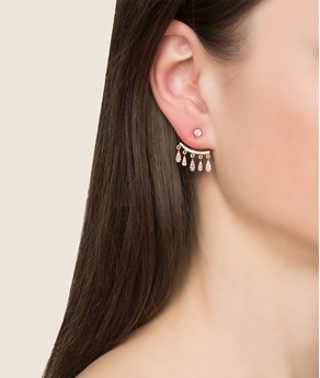 Rose gold-plated Silver Drops Earrings La Vie Jewelry EARRINGS