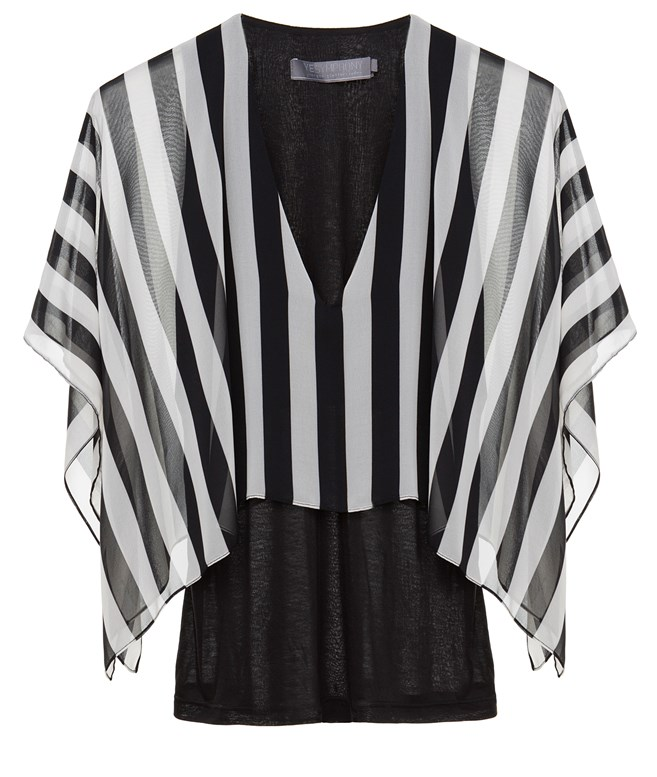 Striped Cape Blouse Yiorgos Eleftheriades TOPS