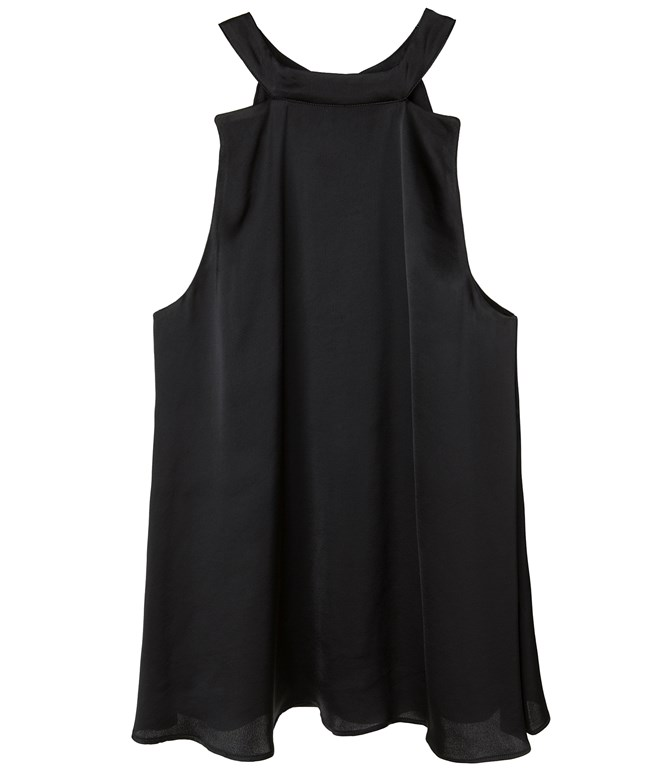 Black Halterneck Satin Top Ioanna Kourbela TOPS
