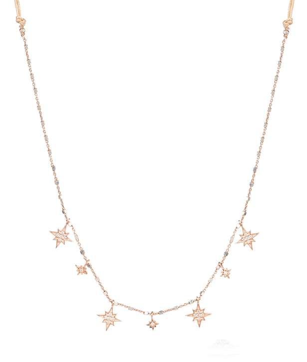 Rose gold-plated Silver Stars Choker Necklace