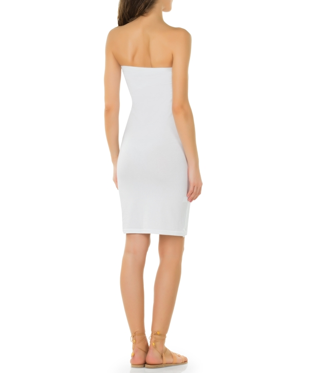 White Vital Strapless Dress