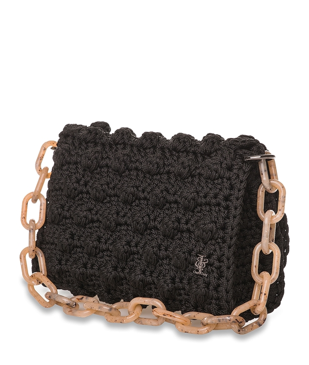 Black Bubble Crochet Bag