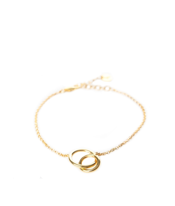Gold-plated Silver Infinite Bracelet