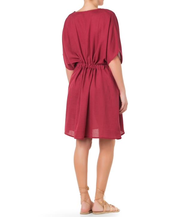 Cherry Cotton Poncho Dress