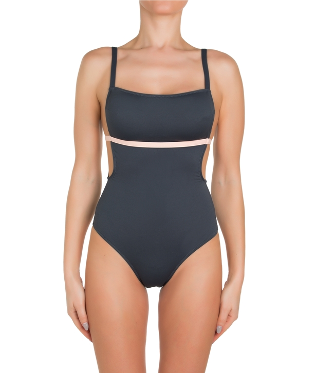 Anthracite and Rose Maya Swimsuit
