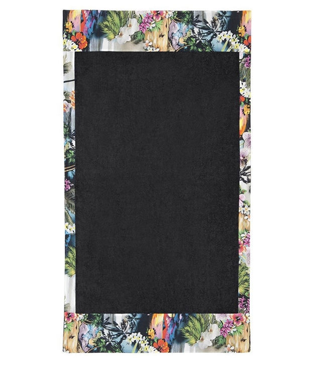 Black Hawaian Tropic Head to Toe Beach Towel