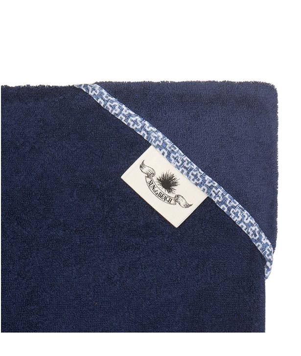 Navy Patmos Head to Toe Beach Towel