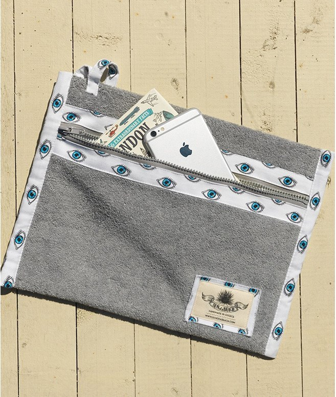 Grey Watch Out Holiday Pochette  Sun of a Beach BEACH BAGS