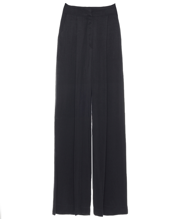 Black Fundamental Straight Pants