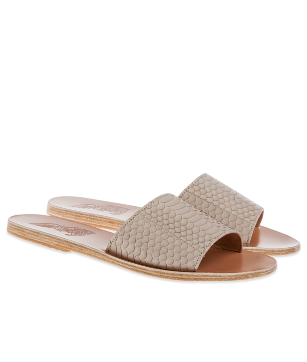 Taygete Sandals Taupe Snake