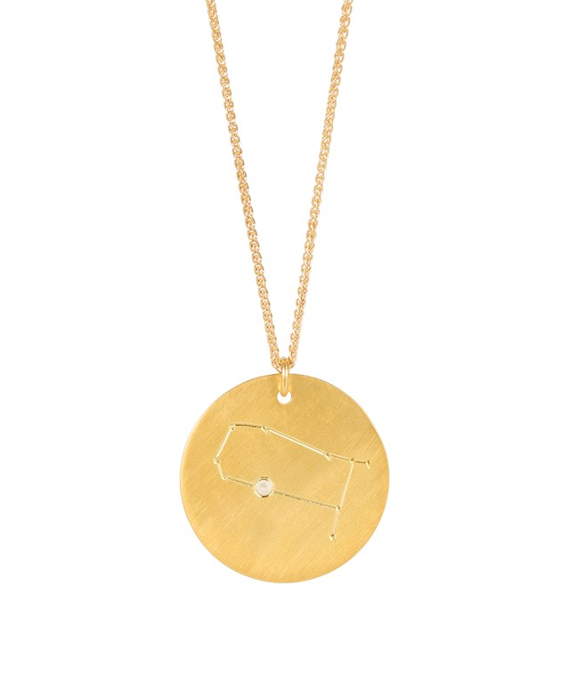 Gemini Gold-plated Silver Necklace  Hermina Athens NECKLACES