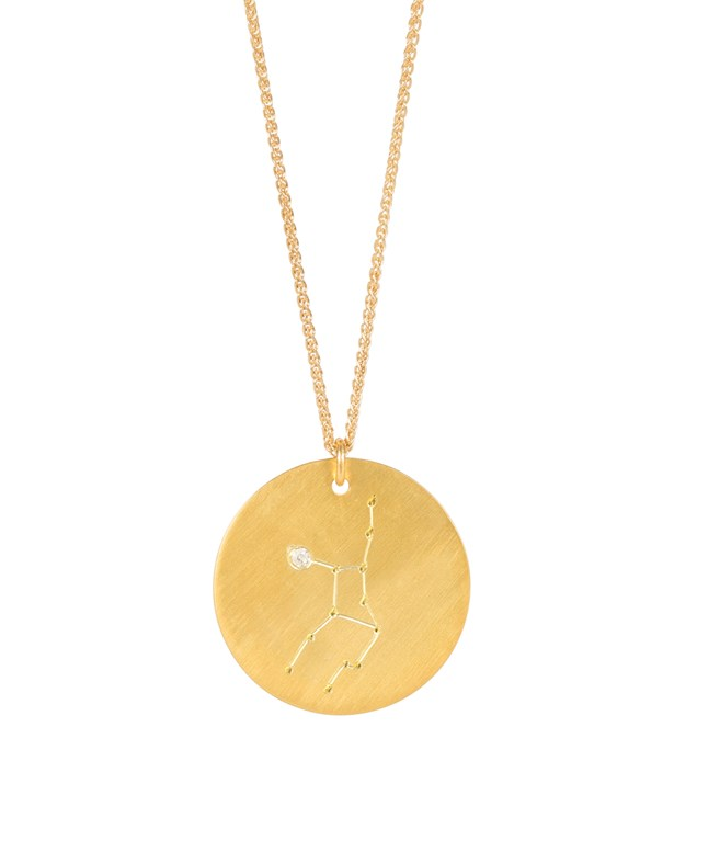Virgo Gold-plated Silver Necklace  Hermina Athens NECKLACES