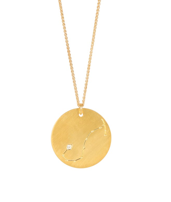 Scorpio Gold-plated Silver Necklace  Hermina Athens NECKLACES