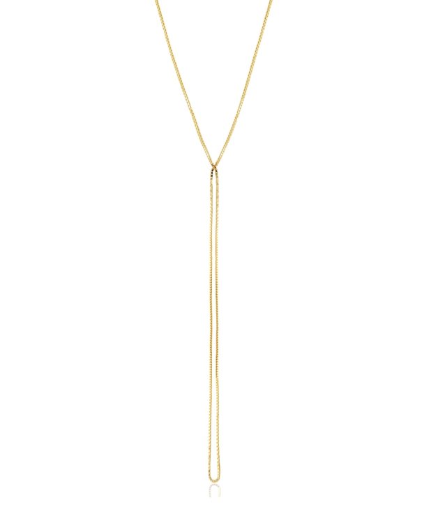 Yellow Gold Chain Long Necklace
