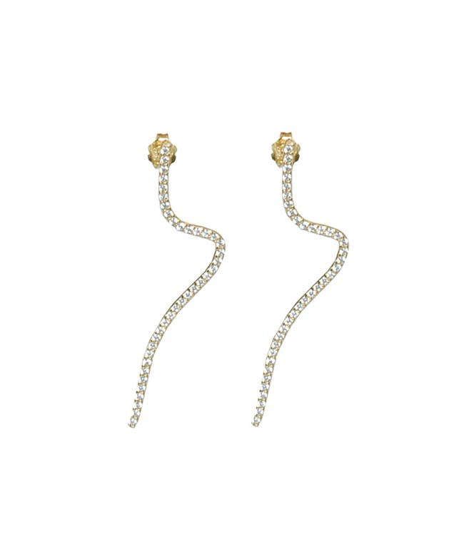 Gold-plated Silver Snake Earrings La Vie Jewelry EARRINGS