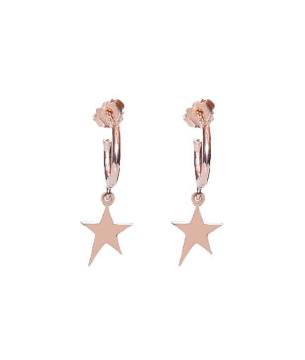 Rose gold-plated Silver Star Earrings