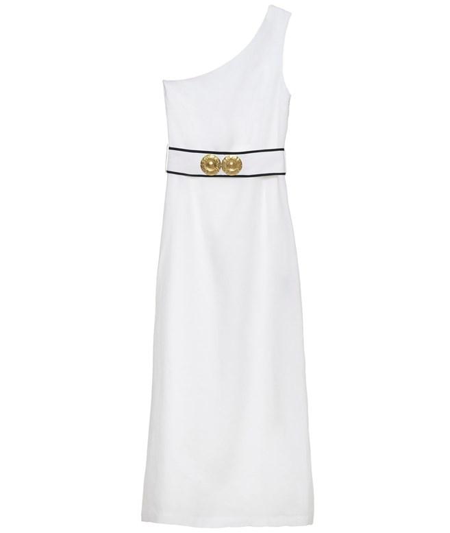 a8d6c717aa2 Ancient Kallos · White Ino One Shoulder Linen Dress