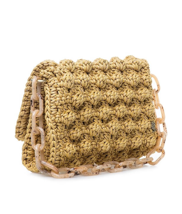Saffron Bubble Crochet Bag