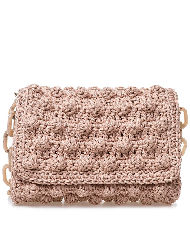 Pink Bubble Crochet Bag One & Only SHOULDER BAGS