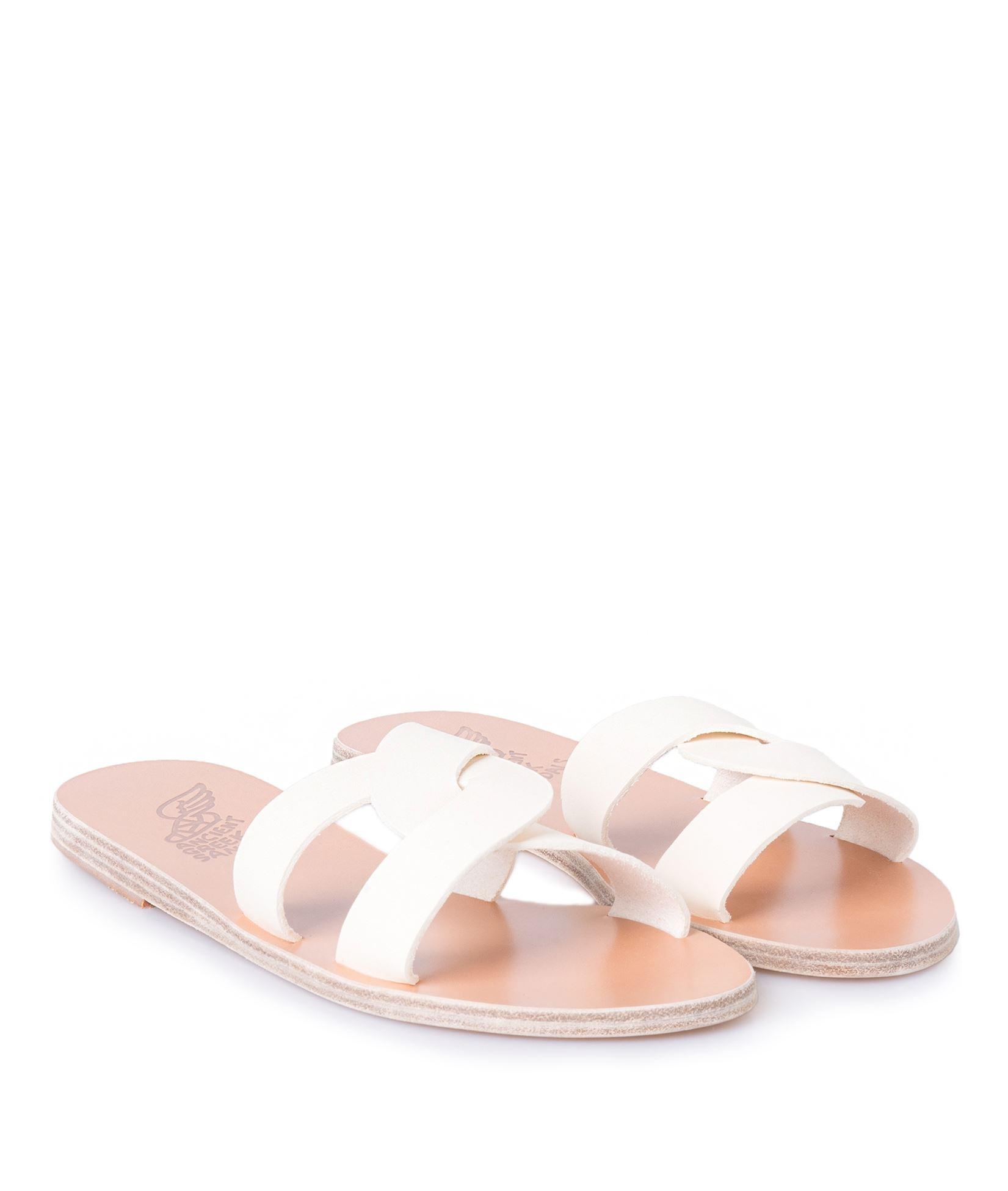 4371d44bced Ancient Greek Sandals Off White Desmos Cutout Slides < Everyday ...