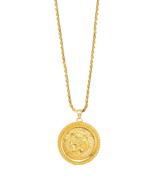 Helios Cord Gold-plated Silver Necklace Hermina Athens NECKLACES
