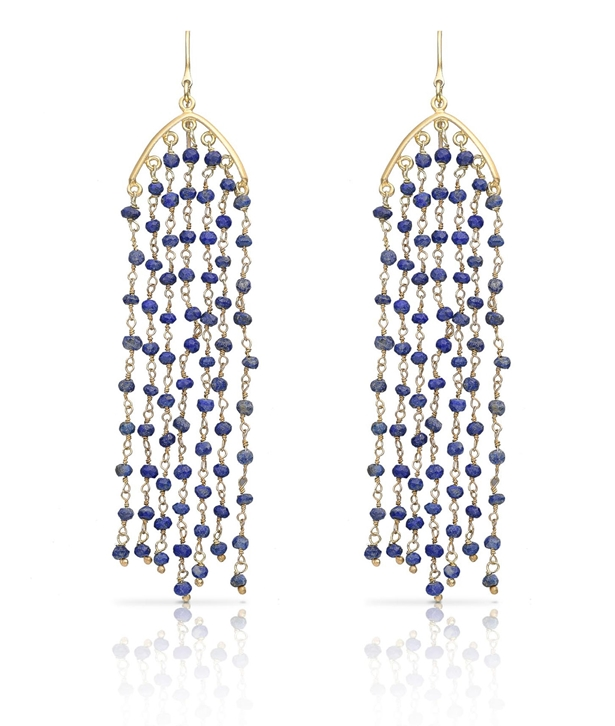Aphrodite Lapis Earrings Long