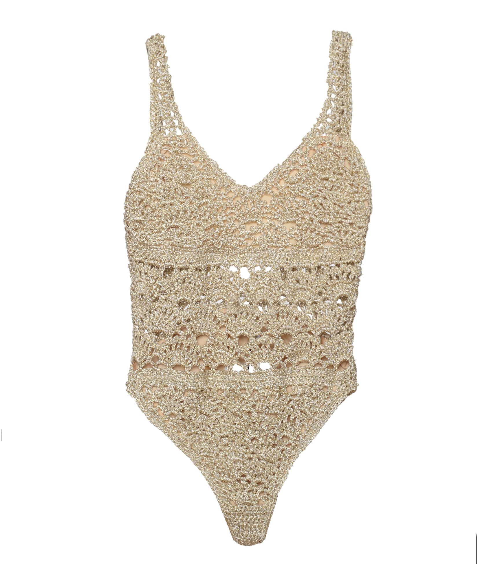 eee674af07f Sadh Gold Lace Lily Swimsuit < Sadh List | aesthet.com