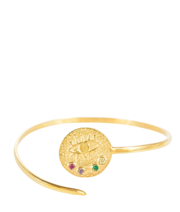 Kressida Medallion Gold-plated Silver Multi Cuff