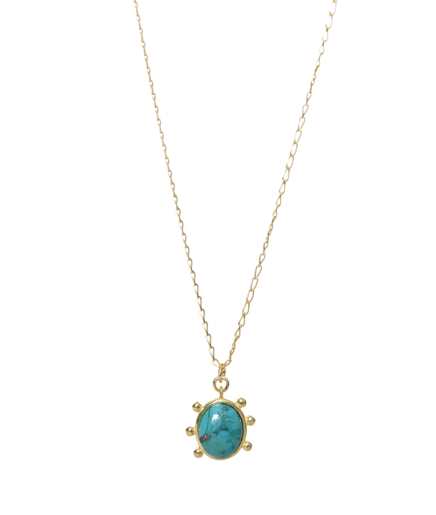 Gold-plated Silver Turquoise Necklace