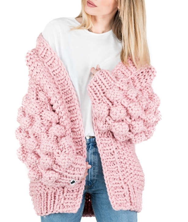 Pink Warm Up Cardigan