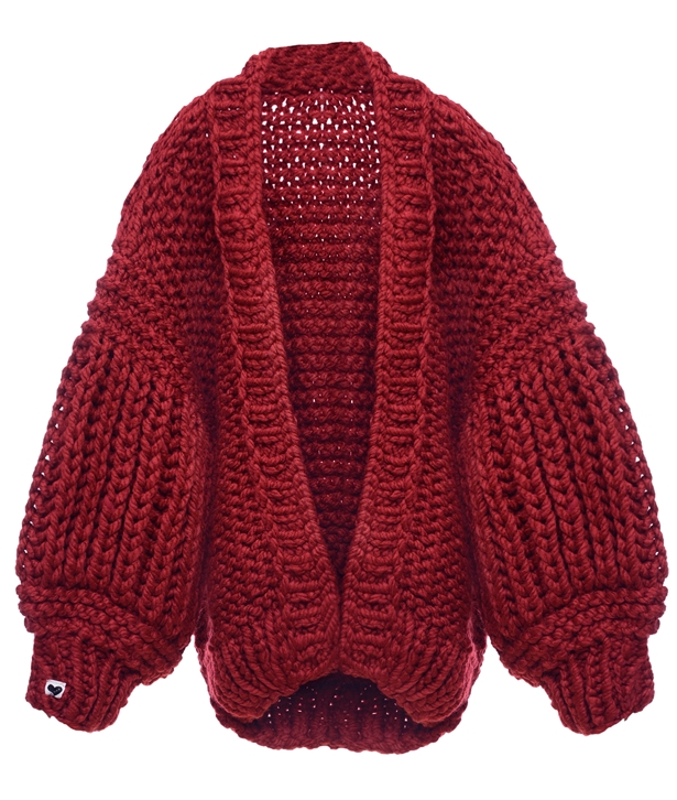 Red Loon Up Cardigan
