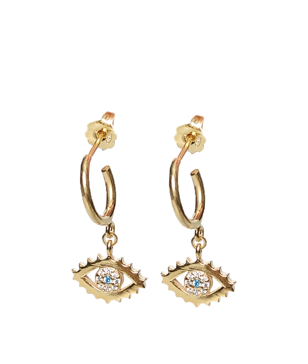 Gold-plated Silver Mini Eye Earrings