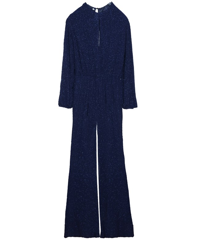 Midnight Blue Lurex Jumpsuit CKontova JUMPSUITS/PLAYSUITS