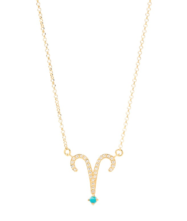 Aries Turquoise Gold-plated Silver Necklace Antonia Karra NECKLACES