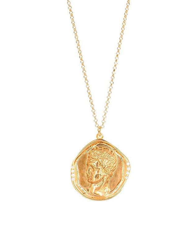 Hermis Lustre Gold-plated Silver Necklace