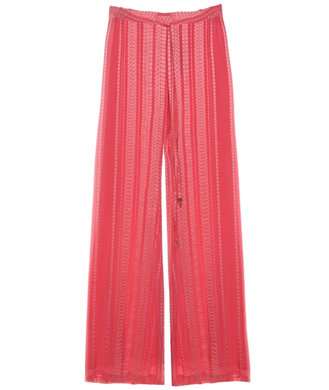 Coral Silk Alcestes Trousers Zeus+Dione PANTS/SHORTS