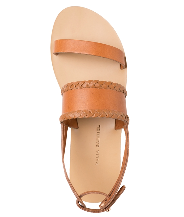 Dark Tan Mellon Leather Sandals