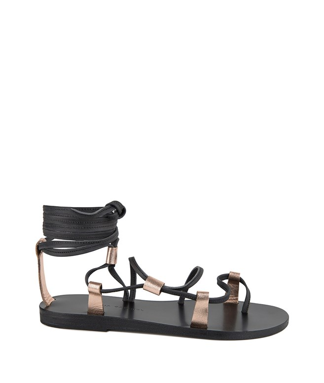 Black Rose Metal Leather Corine Sandals Valia Gabriel SANDALS