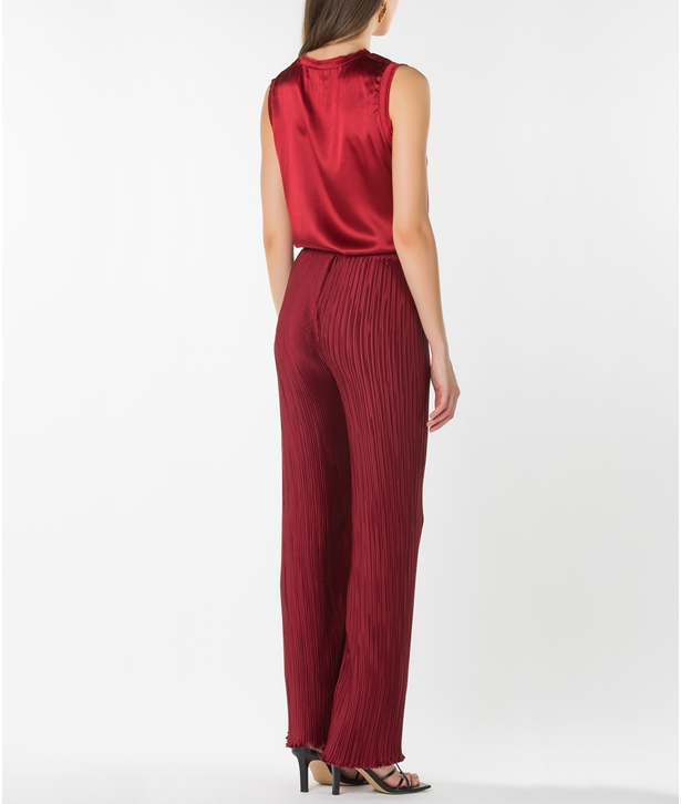 Burgundy Iris Trousers
