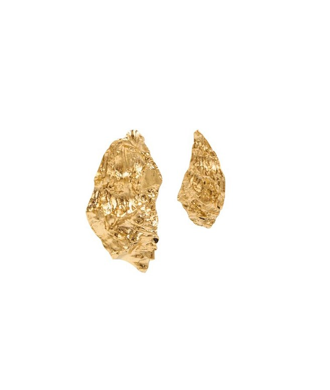 Gold Melies Nebula Asymetrical Earrings  Hermina Athens EARRINGS