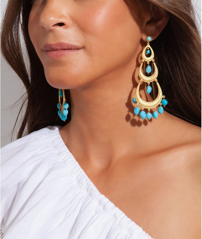 Eos Turquoise Gold-plated Silver Earrings Antonia Karra EARRINGS
