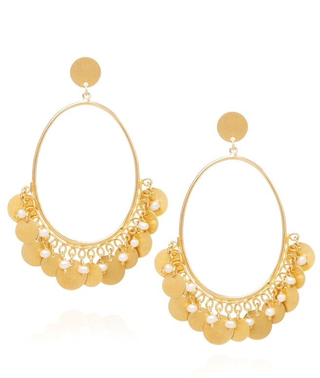 Harmonia Pearl Gold-plated Silver Earrings Antonia Karra EARRINGS
