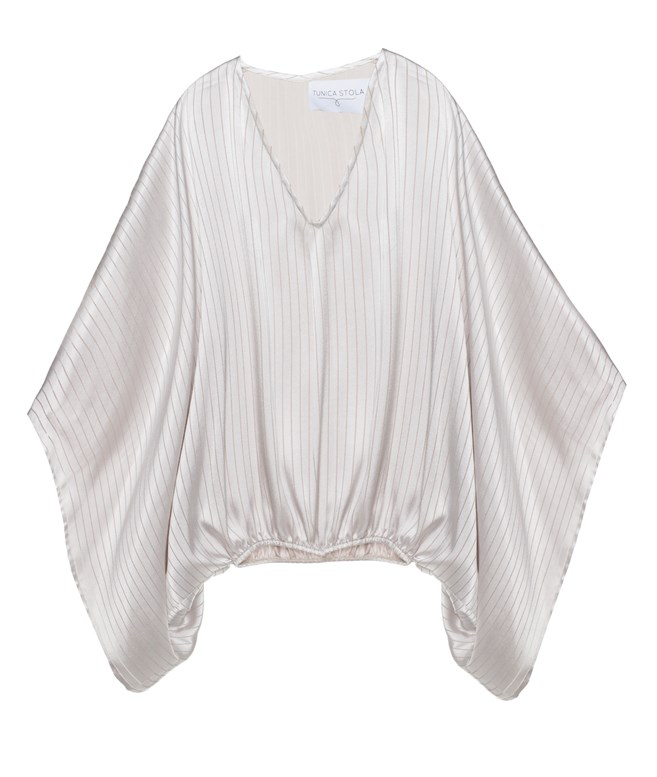 Sand Striped Blouse Tunica Stola TOPS